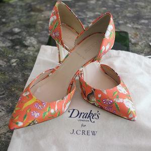 J Crew Drake's Silk Lucie Pumps